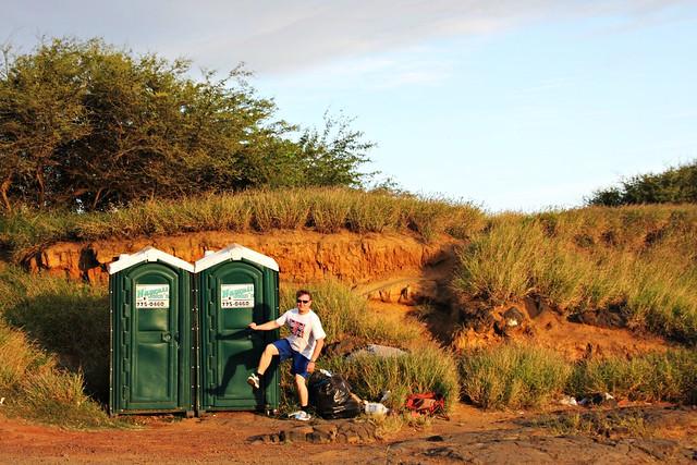 Yhdysvaltojen eteläisimmät vessat Havaijin Big Islandilla