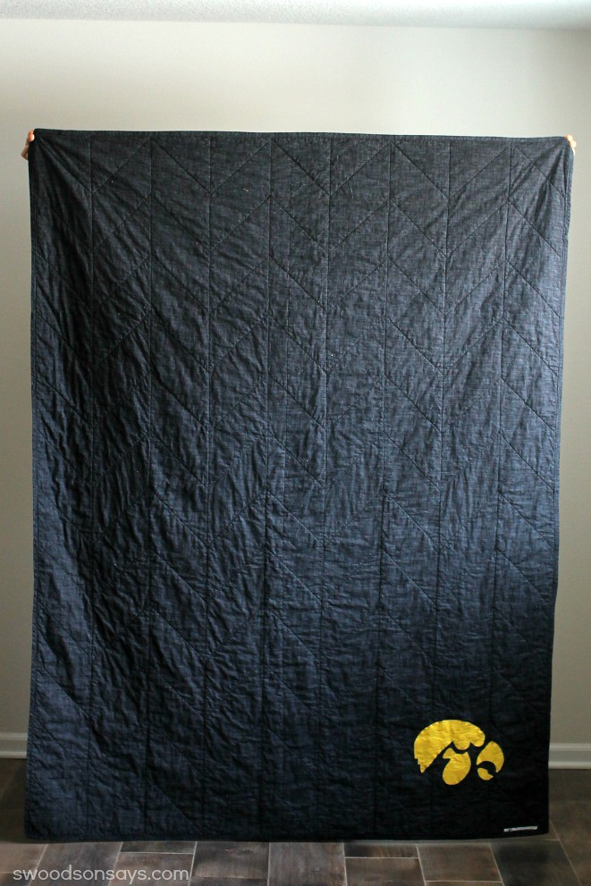 Iowa Hawkeye Fabric