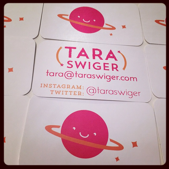 New business cards, for TaraSwiger.com