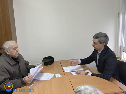 И.о. председателя Запорожской областной организации Партии пенсионеров Украины В.В.Фоменко ведет личный прием (4)