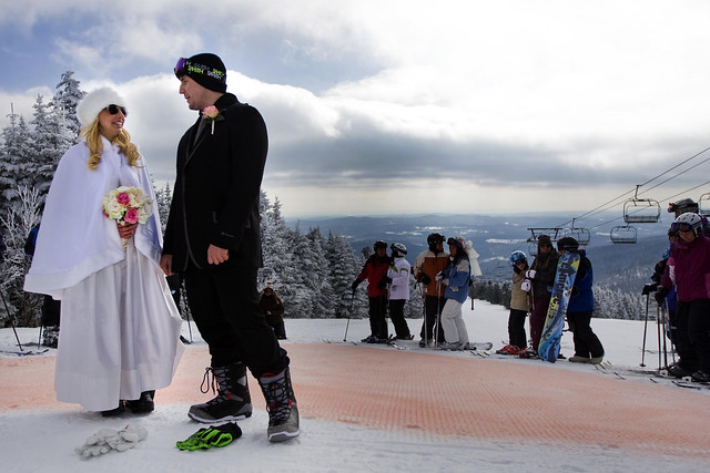 Nuptials on Mt. Snow