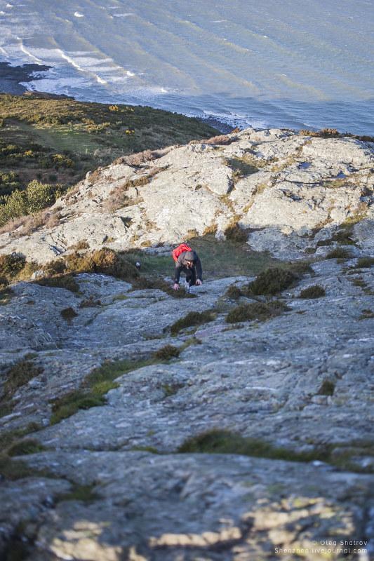 Steph climbing