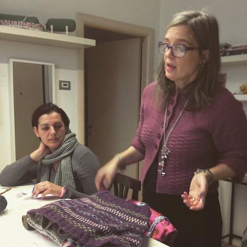 Workshop di Emma sul faire isle #knit #instaknit #ameliabefana #puntiespilli #fattoamano #handmade