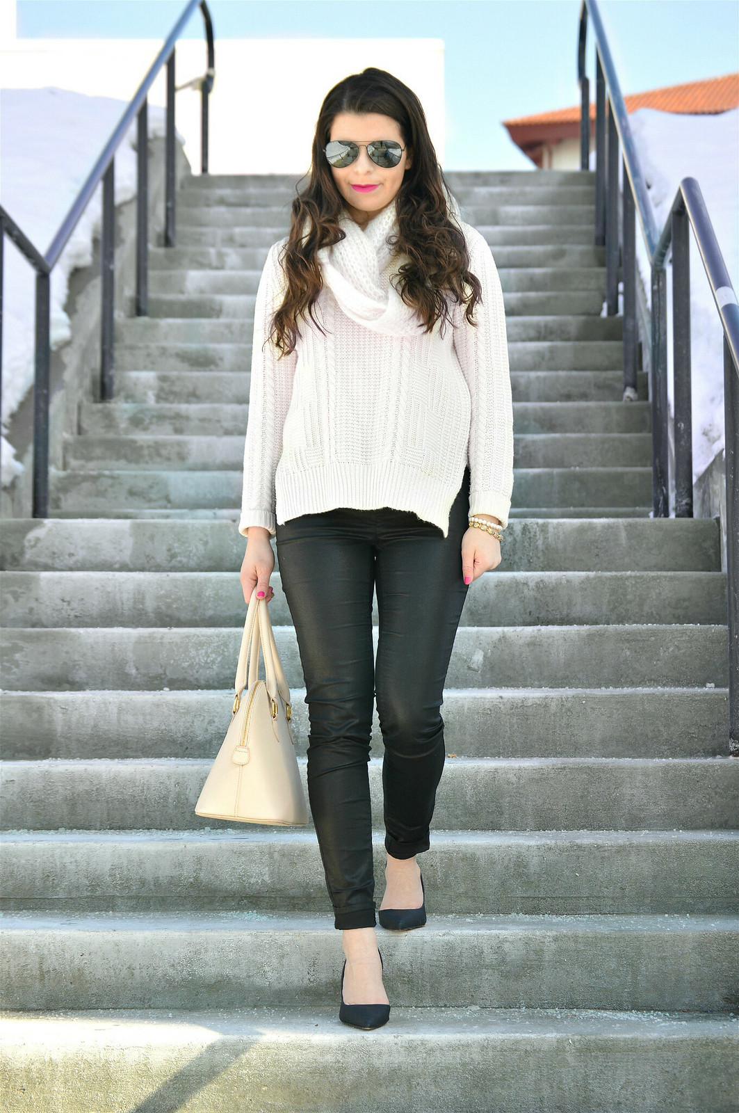 sweater and faux leather 3