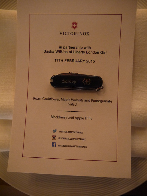 Victorinox Dinner for Sasha Wilkins Bond Street