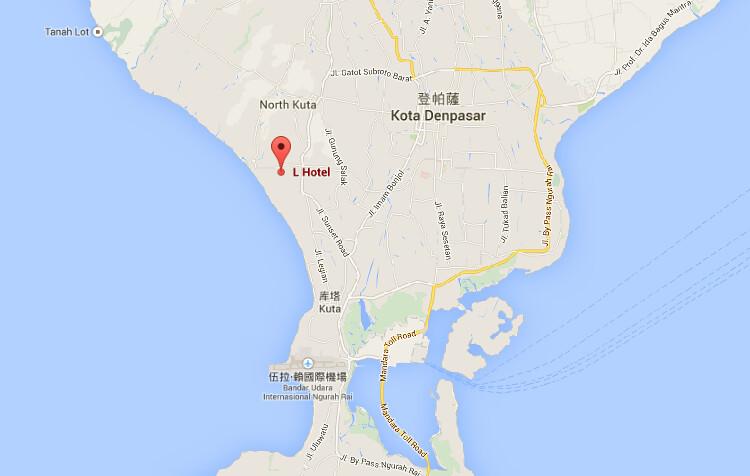 L hotel map