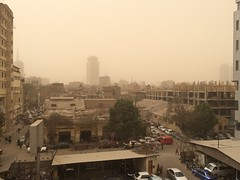 Dust storm in Cairo