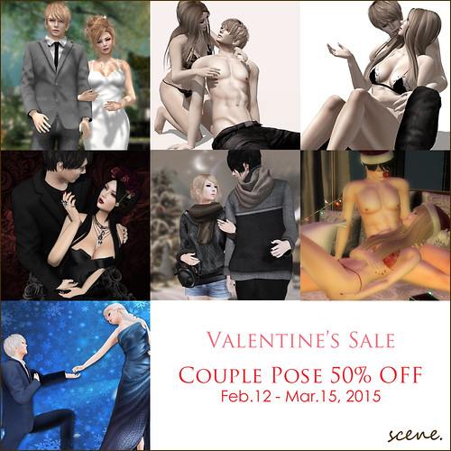 Valentine's Sale (couple poses) @ scene.