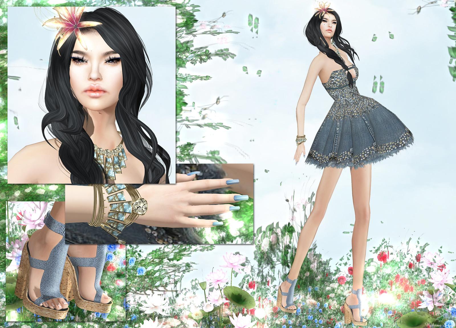 Snowpaws - Denim Duo Mini Dress