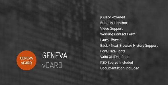 Geneva v1.2 - Personal vCard Template