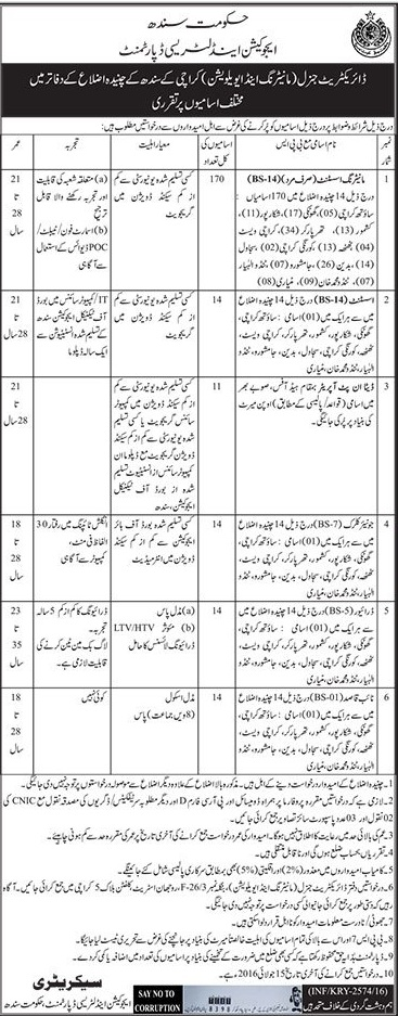 Education and Literacy Department Government of Sindh Jobs