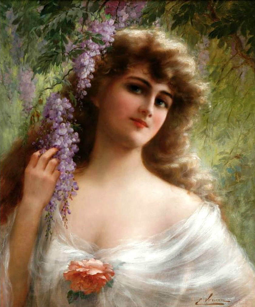 Portrait of a Woman by Emile Vernon - Date unknown
