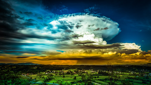 summer sky panorama sun nature clouds skyscape landscape spring colorful wide vivid croatia cloudscape cloudporn hrvatska cumulonimbus zagorje krapinsketoplice