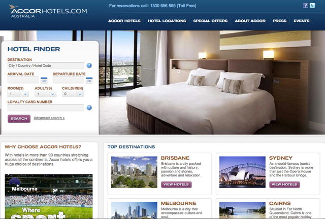 Accor Hotels website