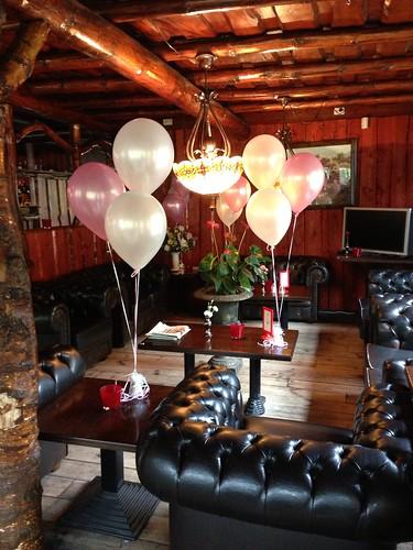Tafeldecoratie 3ballonnen t Golfie Rockanje