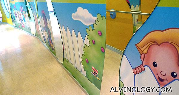 Walkway leading to the nursery