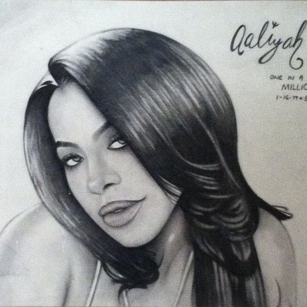 Aaliyah #pencil #pencilart #pencildrawing #art #amazing #artistic #awesomedrawsome #artistsoninstagram #illustration #entertainers #masterpiece