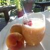 My Aunt Connie made my #mom and I #Peach Smashes. (my Dad's #recipe ) It was made every fourth of July when our #family gathered to #BBQ and watch the #fireworks all that's missing is my brother's family to #celebrate #together! #4thofjuly #lovemyaunt #lo