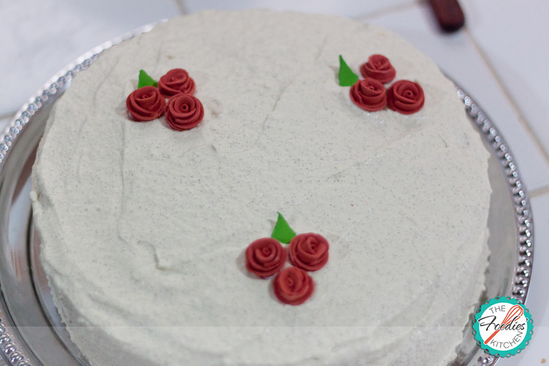 Zesty Almond Poppy Seed Cake with Swiss Meringue Buttercream