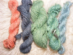 Dyeing on handspun bits