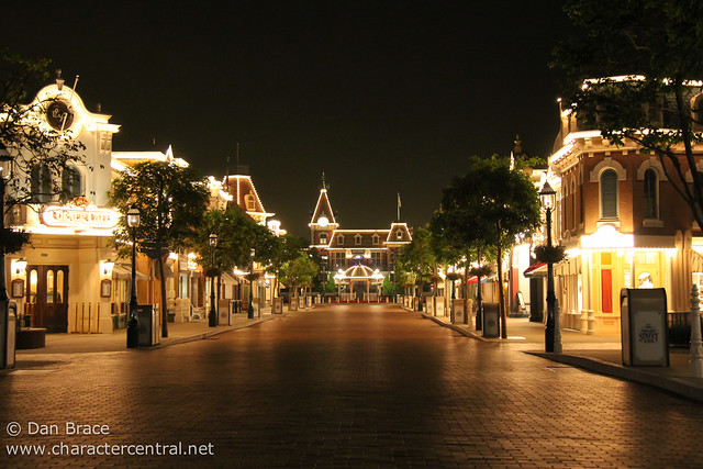 Main Street USA by night