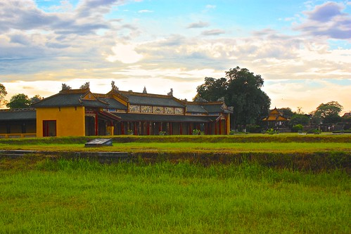 grounds of the Forbidden City in the Hue Citadel