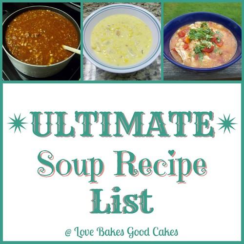 Ultimate Soup Recipe List.