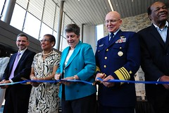 Secretary Napolitano and Adm Papp Cut Ribbon, Opening New Headquarters