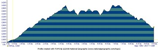 Handies Peak and Pt 13,795 Elevation Profile