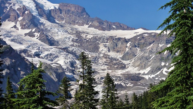 Upper reaches of the Nisqually Glacier.