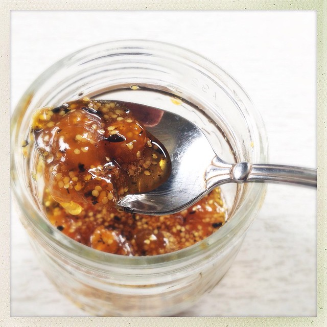 chai flavored ground cherry preserves.