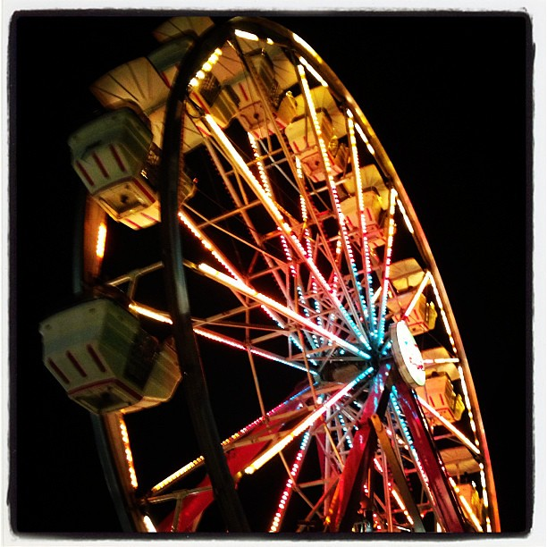 Ferris wheel ride at Tunbridge Fair