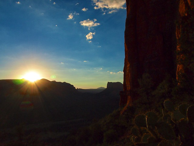The Sun Rises at the Cathedral Rock Vortex