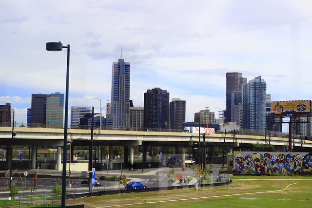 getting closer to downtown denver on the light rail