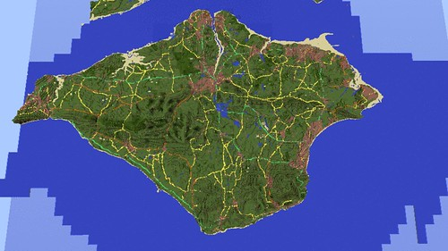 Isle of Wight in Minecraft