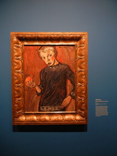 DSCN7873 _ Knabe mit Apfelsine (Boy with Orange), 1911, Albert Bloch (1882-1961), LACMA