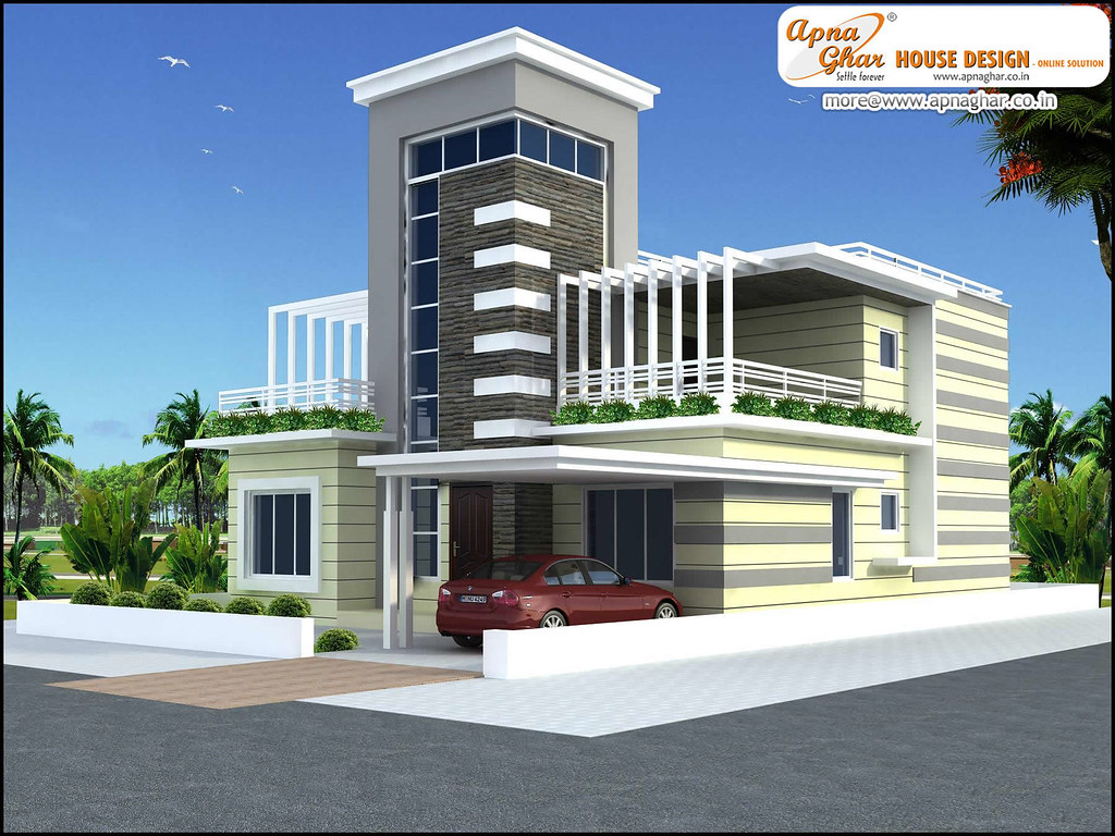 Modern 4 bedrooms duplex house design