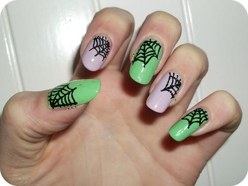 Cobweb Nail Art NOTD