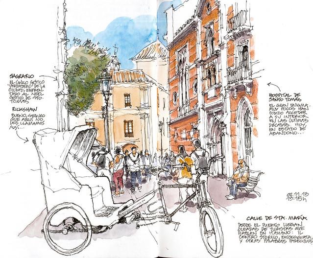 Málaga, rickshaw