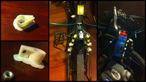 3D printed water bottle cage attachments