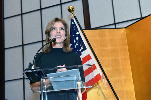 Ambassador Kennedy Delivers Remarks at a Reception in her Honor