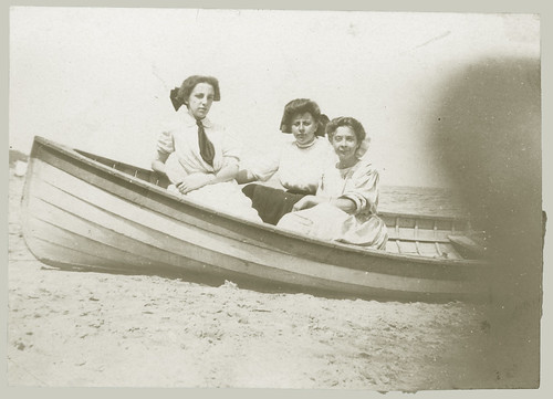 Three women in a boat