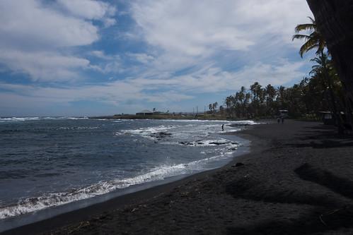 hawaii unitedstates mountainview blacksandbeach punaluucountybeachpark