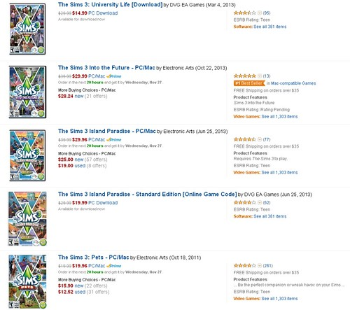 Amazon: Deep Discounts on The Sims 3 Games | SimsVIP