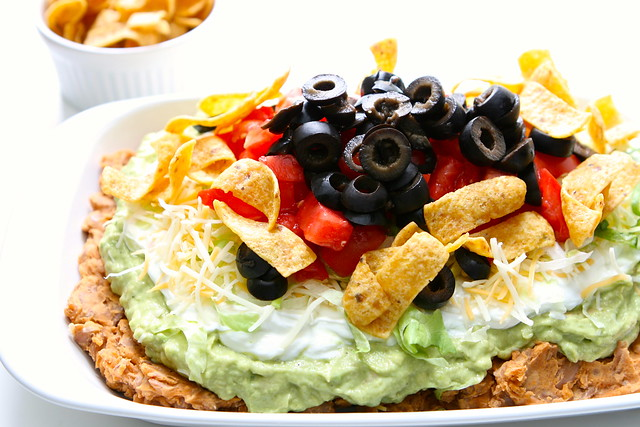 7 layer pinto bean dip
