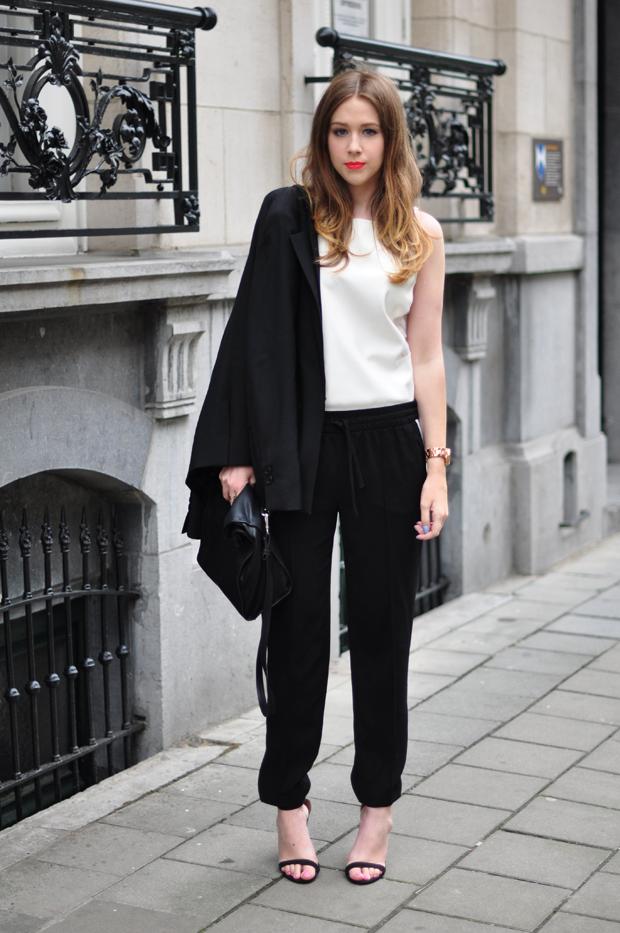 stylelab fashion blog outfit ootd monochrome sports half n half