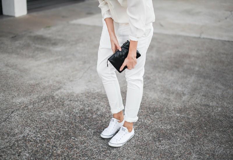 b43777770b3e modern legacy fashion style blogger australia Camilla Marc silk shirt  Bassike slouch pants Witchery snakeskin clutch