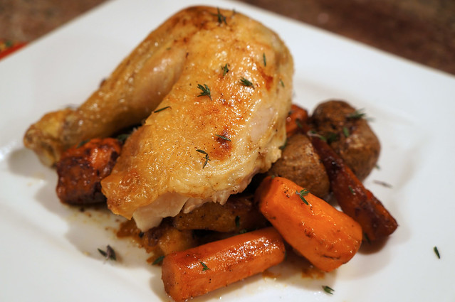 Roasted Chicken with Root Vegetables (Thomas Keller, Ad Hoc at Home)