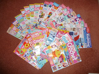 Let's Get Crafting Crocheting and Knitting. For Sale £1.00 each magazine plus postage.