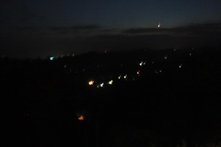 View of the Hills at night